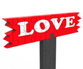 Love Word Shows Heart Romance For Valentines — Stock Photo