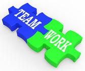 結合された努力、協力にチームワークを示しています — ストック写真