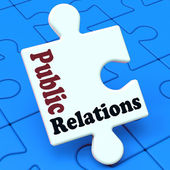 Public Relations Means News Media Communication — Stock Photo