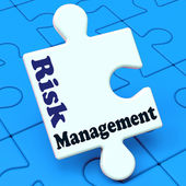Risk Management Means Analyze Evaluate Avoid Crisis — Stock Photo