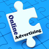 Online Advertising Shows Website Promotions Adverts — Stock Photo