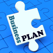 Business Plan Shows Management Growth Strategy — Stock Photo