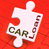 Car Loan Shows Auto Finance — Stock Photo