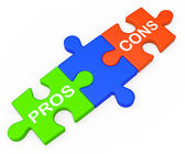 Pros Cons Shows Plus And Minus Alternatives — Stock Photo