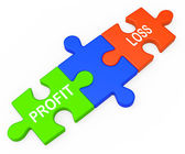 Profit Loss Shows Returns For Businesses — Zdjęcie stockowe