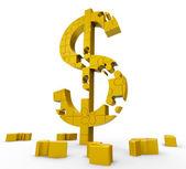 Simbolo di dollaro significa dollari, prosperità, guadagni — Foto Stock