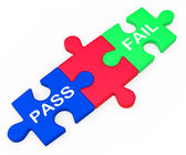 Pass Fail Shows Exam Or Test Results — Stock Photo