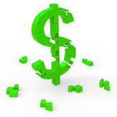 Dollar Symbol Means Currency Wealth And Banking — Stock Photo