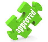 Approved Piece Shows Success, Approval, Confirmed — Stock Photo