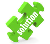 Solution Shows Success Development And Strategies — Stock Photo