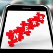 Stock Photo: News On Smartphone Showing Online Journalism