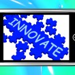 Innovate On Smartphone Shows Creativity — Stock Photo