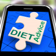 Stock Photo: Diet Advice On Smartphone Showing Healthy Diets