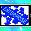 Enterprise On Smartphone Showing Company Development — Stock Photo