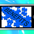 Benefits On Smartphone Shows Monetary Rewards And Bonuses — Stock Photo #17596165