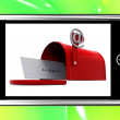 Stock Photo: Mailbox On Smartphone Showing Email Inbox