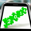 2014 On Smartphone Shows Future Resolutions — Stock Photo #17596301