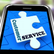 Customer Service On Smartphone Showing Online Support — Foto Stock