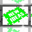 New Ideas On Screen Showing Improved Ideas — Stock Photo