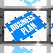 Stock Photo: Business Plan On Screen Shows Marketing Strategies
