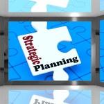 Strategic Planning On Screen Shows Organization — Stock Photo #17596413