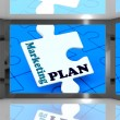 Marketing Plan On Screen Shows Marketing Strategies — Stock Photo
