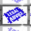 Stock Photo: Legal Advice On Screen Showing Legal Consultation
