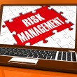 Stock Photo: Risk Management On Laptop Showing Risky Analysis