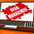 Постер, плакат: Risk Management On Laptop Showing Risky Analysis
