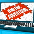 Stock Photo: Online Advertising On Laptop Shows Websites Promotions