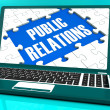 Public Relations On Laptop Shows Online Press - Stock Photo
