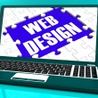 Web Design On Laptop Showing Creativity — Stock Photo