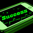 Success On Smartphone Showing Progression — Stok Fotoğraf #17596855