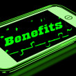 Benefits On Smartphone Showing Messages Bonus — Stock Photo #17596865
