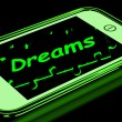 Stock Photo: Dreams On Smartphone Shows Aspirations