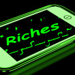 Riches On Smartphone Showing Wealth — Stock Photo #17596897