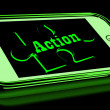 Action On Smartphone Showing Urgent Activism — Stock Photo