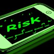 Risk On Smartphone Shows Unstable Situation — Stock Photo
