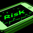 Stock Photo: Risk On Smartphone Shows Unstable Situation