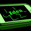 Idea On Smartphone Shows Creative Concepts — Stock Photo