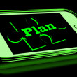 Plan On Smartphone Shows Business Aspirations — Stock Photo #17596935
