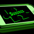 Success On Smartphone Shows Progression — Foto Stock #17596947