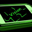 Stock Photo: Vision On Smartphone Shows Future Plans