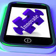 Innovate On Smartphone Showing Creative Ideas — Stock Photo