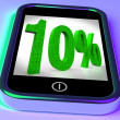 Stock Photo: Ten Percent On Smartphone Showing Bargains And Reduced Prices
