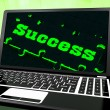 Stock Photo: Success On Laptop Showing Solutions