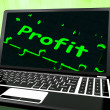 Stock Photo: Profit On Laptop Shows Profitable Earns