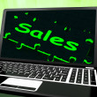 Sales On Laptop Showing Promotions — Stock Photo