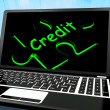 Credit Puzzle On Laptop Shows Ecommerce — Stock Photo