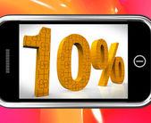 Akıllı ucuz ürün ve fiyat fırsatlar gösterilen yüzde on — Stok fotoğraf